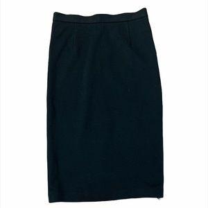 Alice + Olivia Employed Black Midi Career Skirt